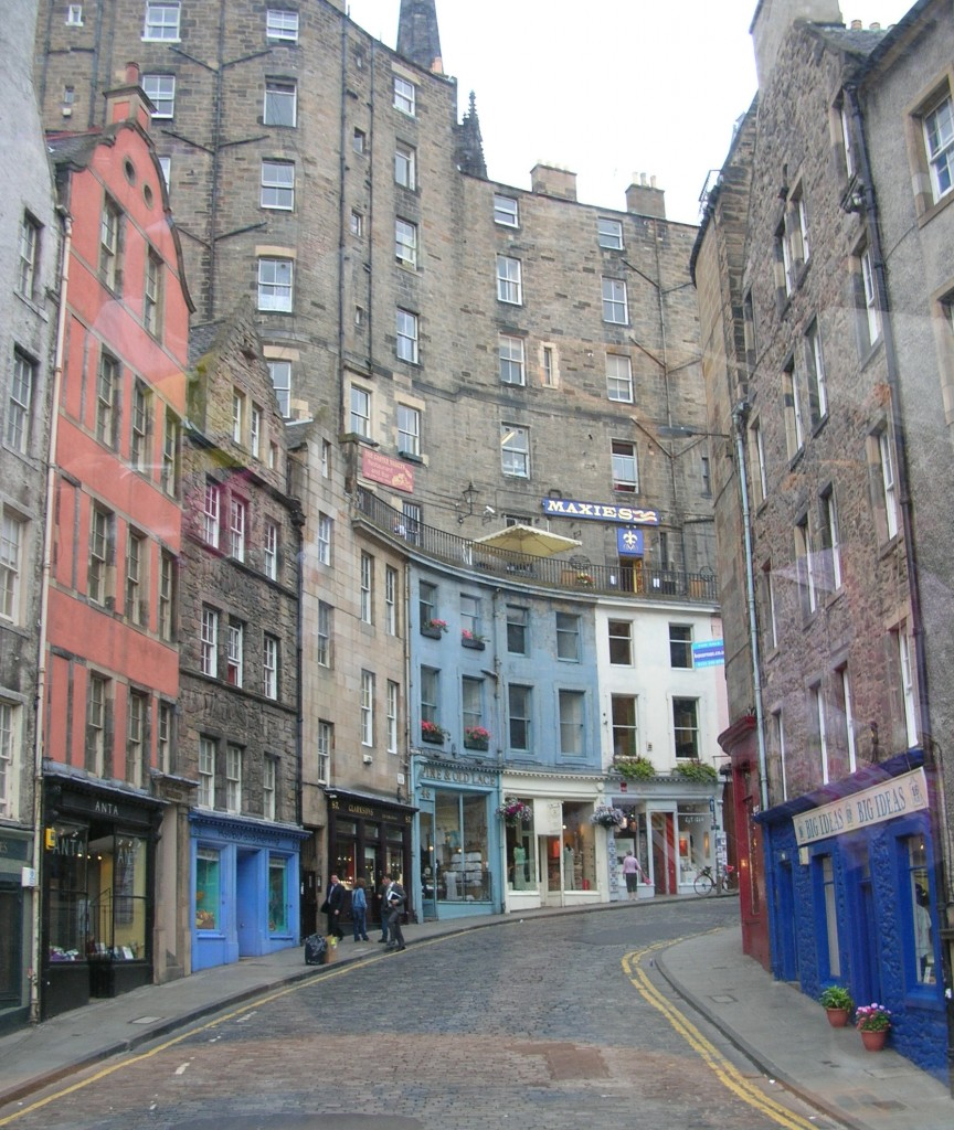Street view of Edinburgh