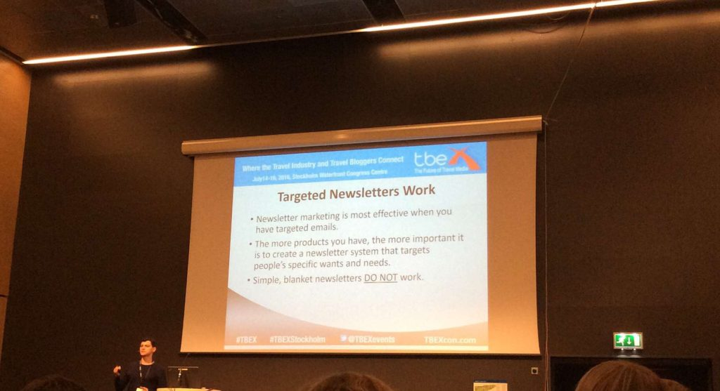 content tips from TBEX Stockholm 2016 - newsletters