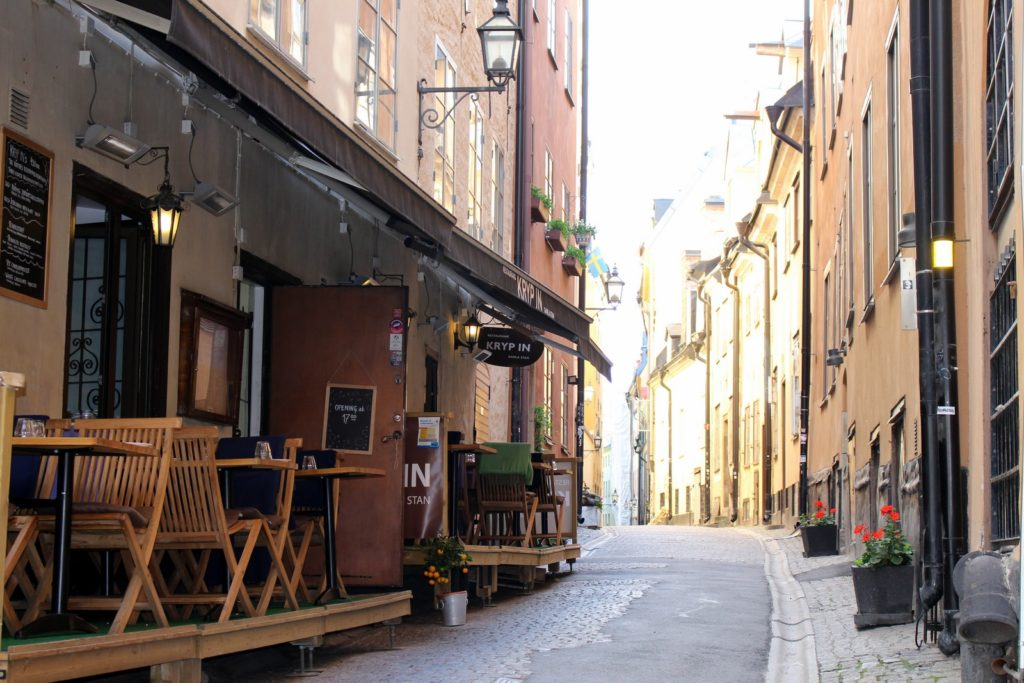 Stockholm Gamla Stan alley travellivelearn Sarah Blinco