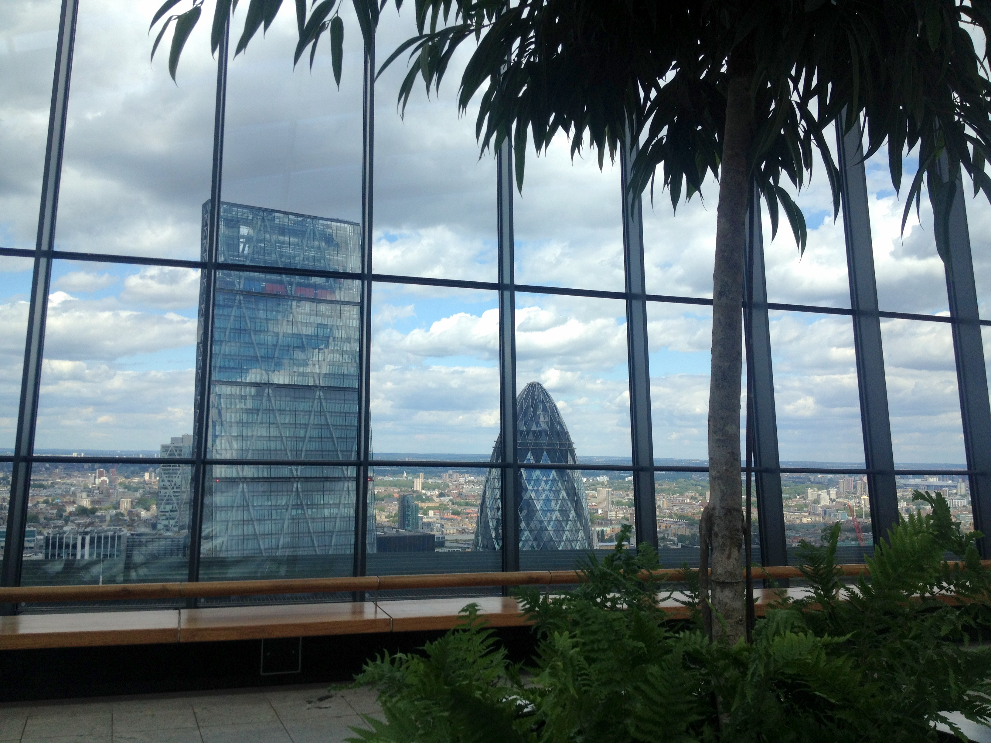 View outside Walkie Talkie building London Sarah Blinco