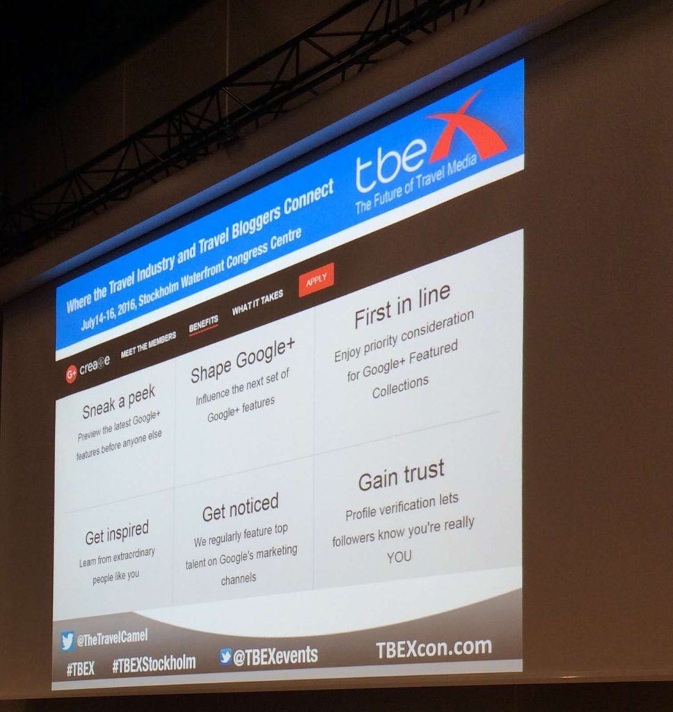 content tips from TBEX Stockholm 2016 - Google Collections