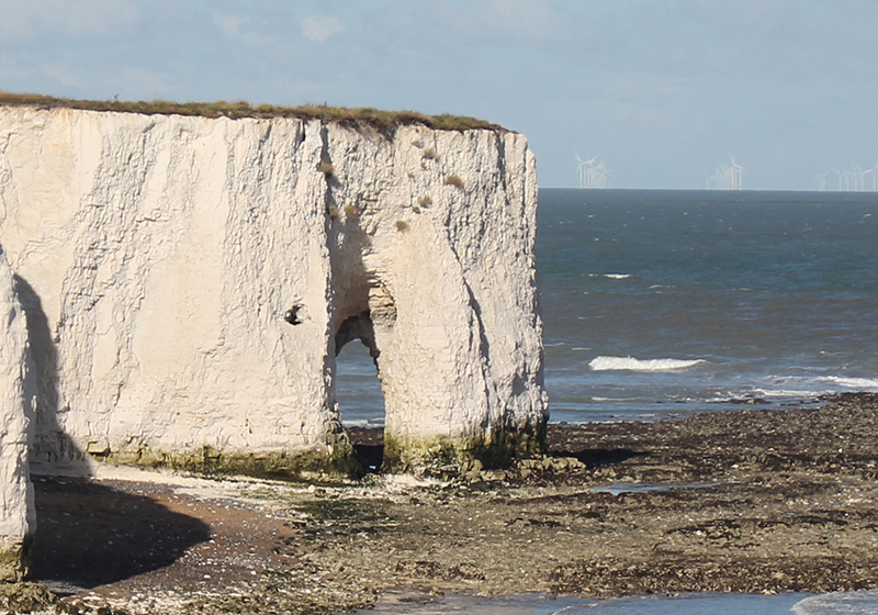 Days out in Kent: Kingsgate Bay and Botany Bay beach landscape