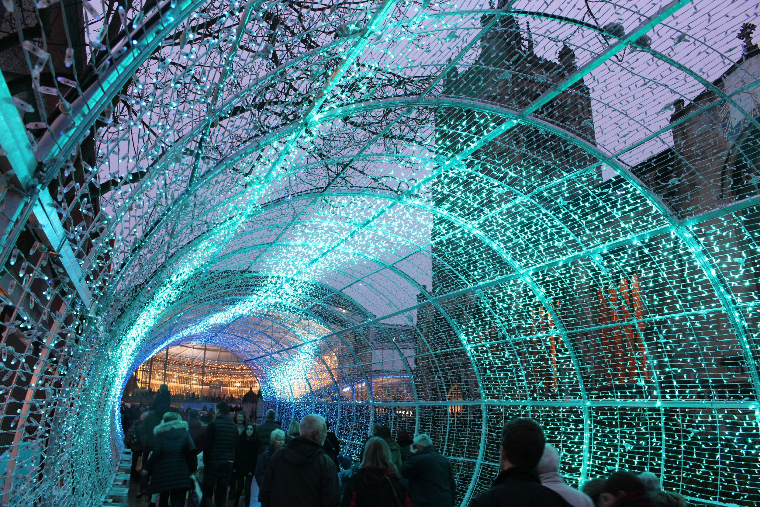 A unique light tunnel - Norwich Tunnel of Lights, easily accessible from London