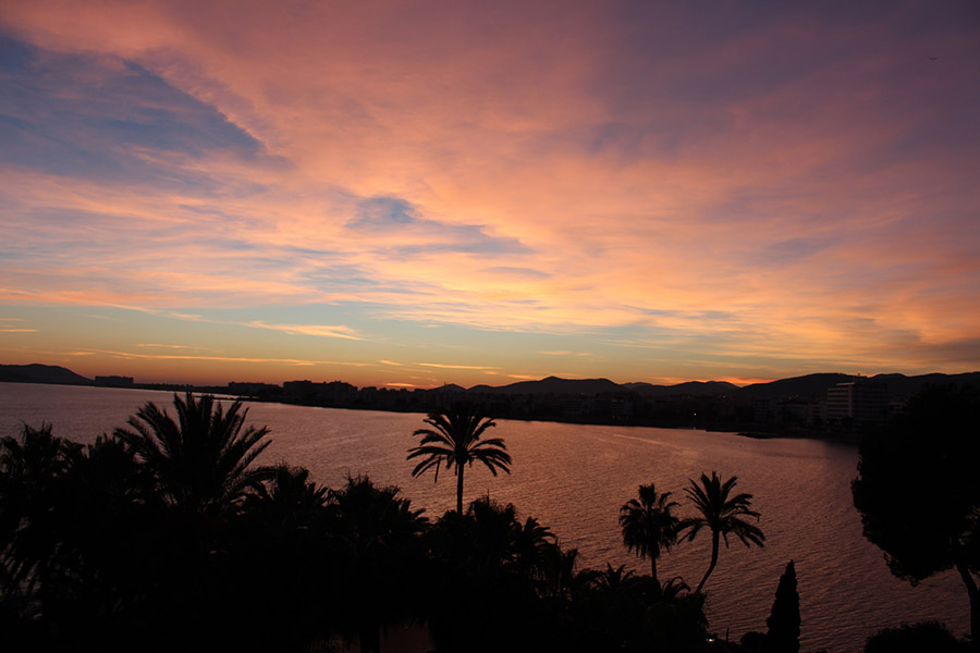 Average weather in Ibiza in winter is perfect - even the sunsets are still perfect