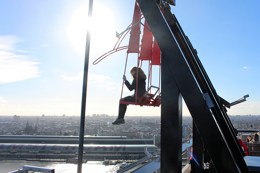 A weekend in Amsterdam - Over the Edge highest swing in Europe