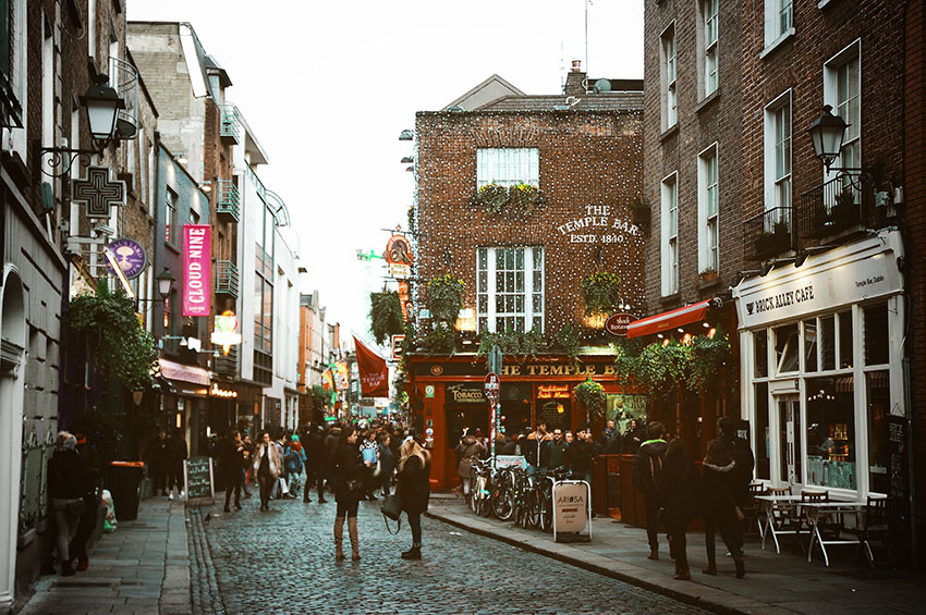 Hidden gems Dublin - get to Temple Bar