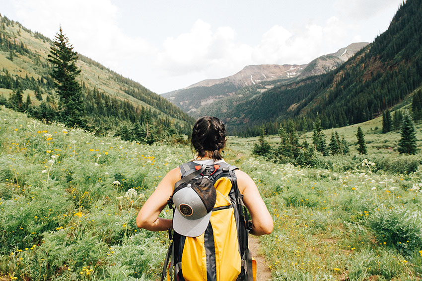 Wellbeing for self employed and digital nomads is really important - get outside for a daily hike or walk wherever you are in the world