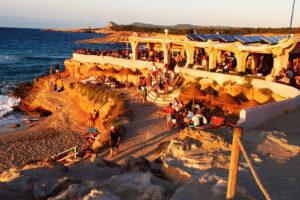 Best beach clubs Ibiza - Sunset Ashram