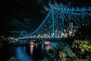 Brisbane river by night - live in Queensland's beautiful capital city